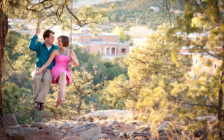 santa fe engagement session